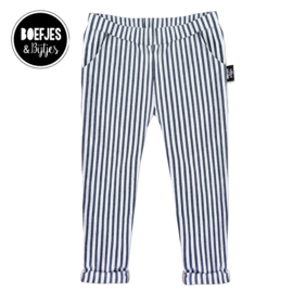 STRIPED CHINO - JEANS BLUE