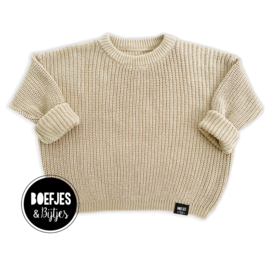 KNITTED SWEATER - NATUREL