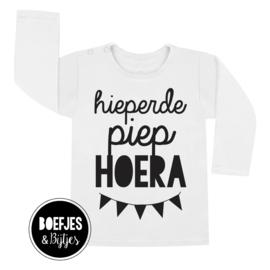 HIEPERDEPIEP HOERA -  VERJAARDAG SHIRT MET NAAM + LEEFTIJD