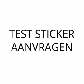 TEST STICKER AANVRAGEN