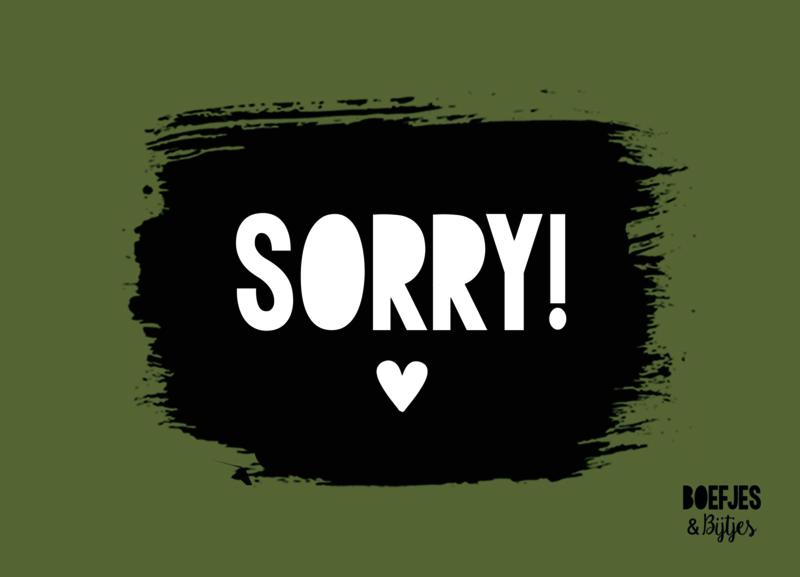 KAART - SORRY!