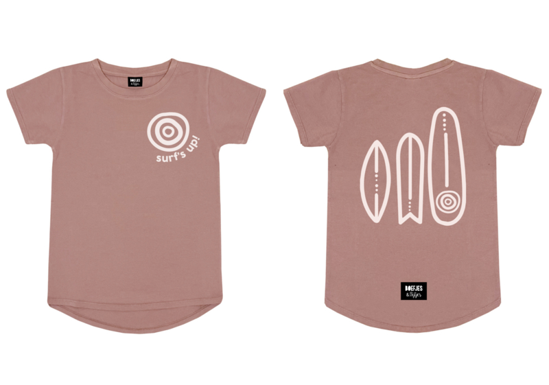 SURF'S UP! TEE - WASHED ROSE