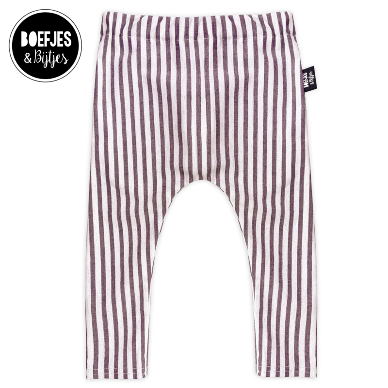 STRIPED PANTS - ROSEWOOD