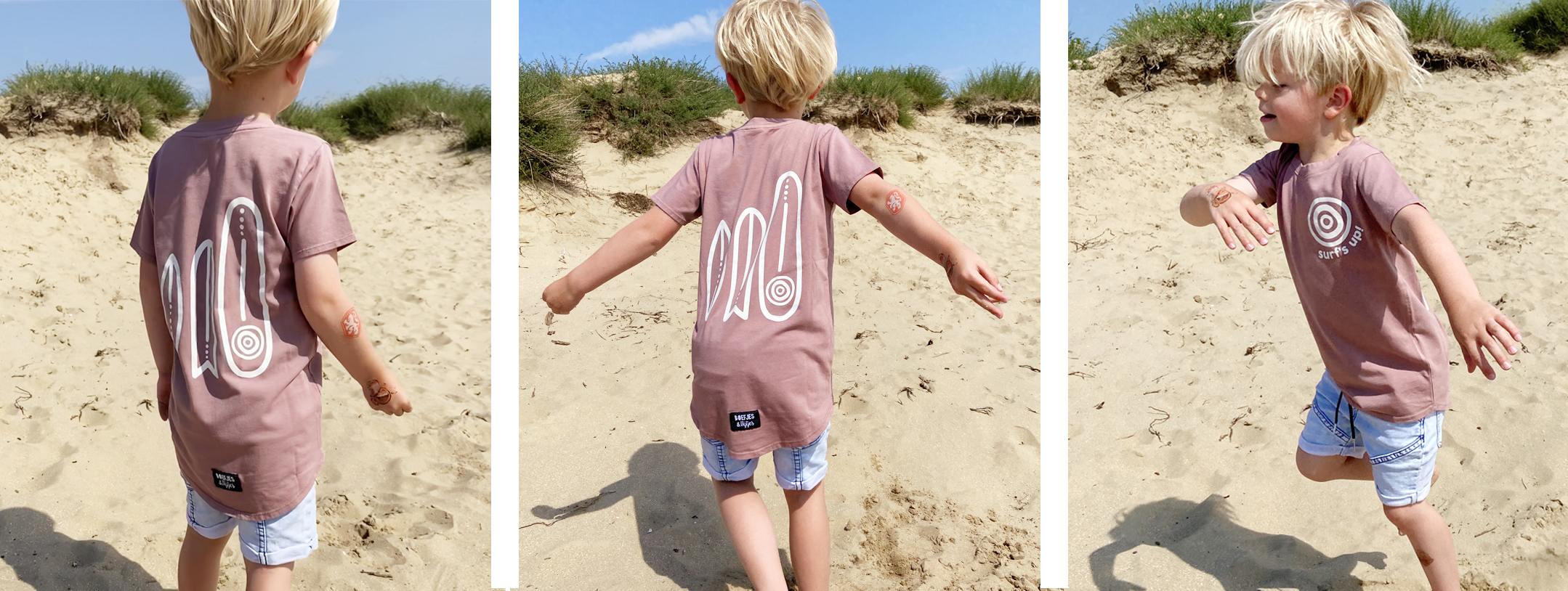 SURF'S UP! Washed tee Rose