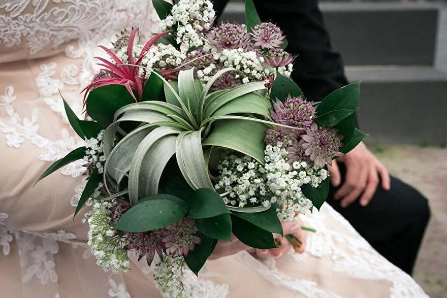 Tillandsia in bruidsboeket