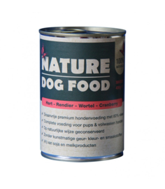 Nature Dog Hert,Rendier,Wortel en Cranberry, 400gr. GLUTENVRIJ