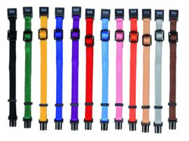 Puppy halsbanden snap & easy 6st Gemengde kleuren S-M/17-25Mx10MM