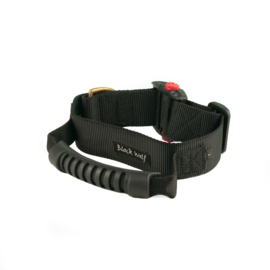 Halsband met rubberen greep 40 mm Black Wolf