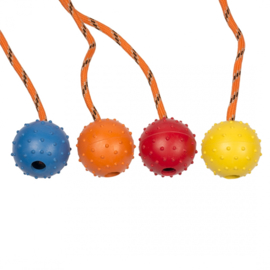 Dogtoy Rubber dental bal met touw