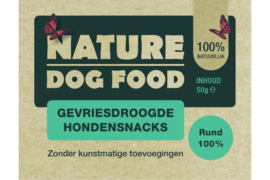 Nature dog gevrisdroogd Rund , 50 gr