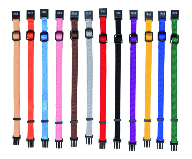 Puppy halsbanden snap & easy 6st Gemengde kleuren M-L/22-35Mx10MM