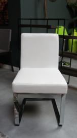 Moderne witte eetkamerstoel
