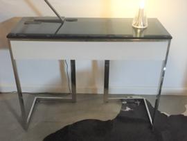 Glazen bureautafel