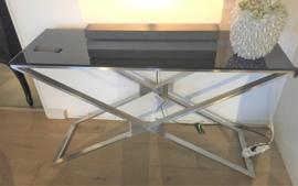 Glazen side tabel