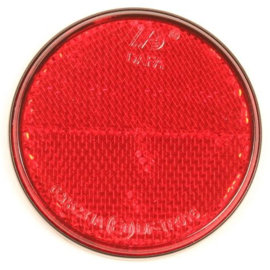 Reflector rond 70 mm. rood plak (per 4 st)