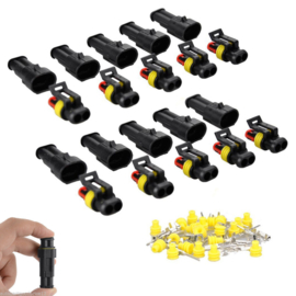 "10x waterdichte connector ""Superseal"" 2 polig"