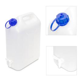 Jerrycan voor water, met dop en kraan