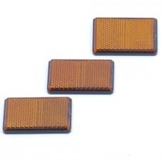 Reflector oranje plak 62x45 mm