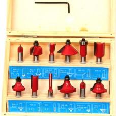Bovenfreesset 12 delig houten box