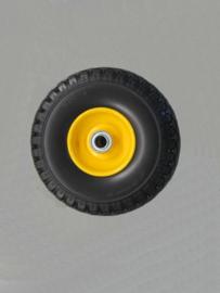Wiel 3.00-4 anti-lek gele stalen velg asgat 20 mm