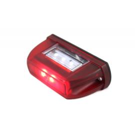 Led nummerbordverlichting rood 12/24V