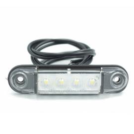 Markeringslamp wit 10-30V