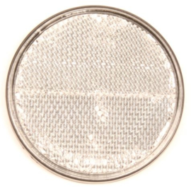 Reflector rond 70 mm. wit plak (per 4 st)