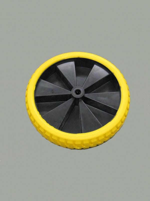 Wiel 4.80/4.00-8 anti-lek zwarte kunststof velg rollager