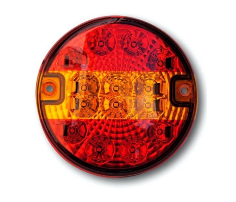 Led achterlamp rond 12-24v platte uitvoering
