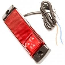 Zijmarkeringslicht 9-32V 3 led rood