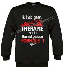 Ik heb geen therapie nodig, formule 1..