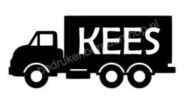 Vrachtwagen met 'naam'