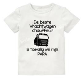 De beste vrachtwagen chauffeur, is toevallig wel mijn PAPA
