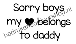 Sorry boys, my ❤ belongs to daddy