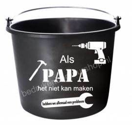 Als papa het niet kan maken ..