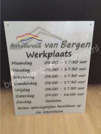 Openingstijden Werkplaats, Autoservice van Bergen te Leek.