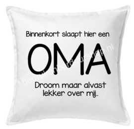 Binnenkort slaapt hier een OMA..