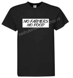 NO FARMERS, NO FOOD!