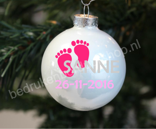 Kerstbal geboorte meisje