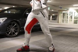 Jogger Orion – Light Grey/Red