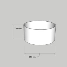 cilinder dia  650 mm. / 300 mm. stof klasse 1.