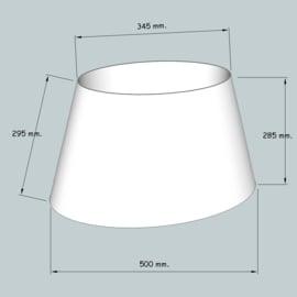 lampenkap ovaal model 4150 stofklasse1