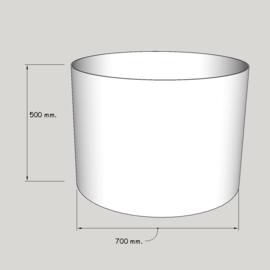 cilinder dia  700 mm. / 500 mm. stof klasse 1.