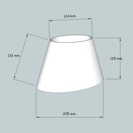lampenkap ovaal model 4120 stof klasse 1