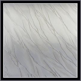 nr. 78 Veermotief wit effektstof,  geplakt op wit pvc.
