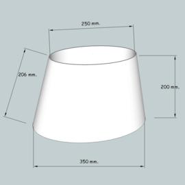 lampenkap ovaal model 4135 stofklasse 1