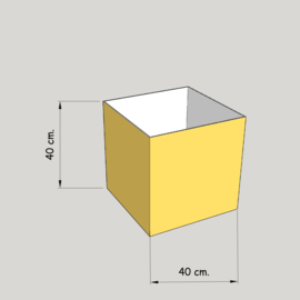 model 4740 hoog 40 of 35 cm.;  stof klasse 1