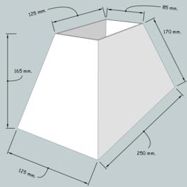 lampenkap rechthoek model 4925 stof klasse 1.