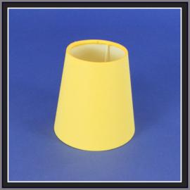 nr. 474 Unie geel,  geplakt op wit pvc.