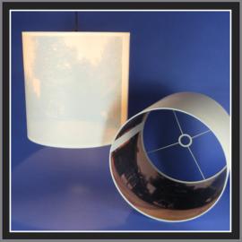 Een print aan de binnenkant van de lampenkap.